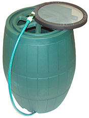 RainBarrel with Screen Mesh
