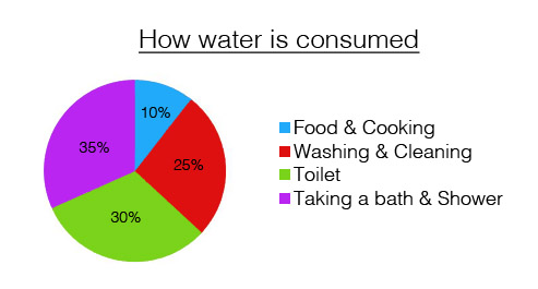 Water Consumption Chart in percentage
